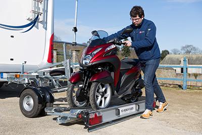 Remorque yo remorques CCT4 - 1 Rail pour moto 3 roues
